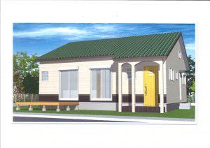 外観イメージ  平屋の家